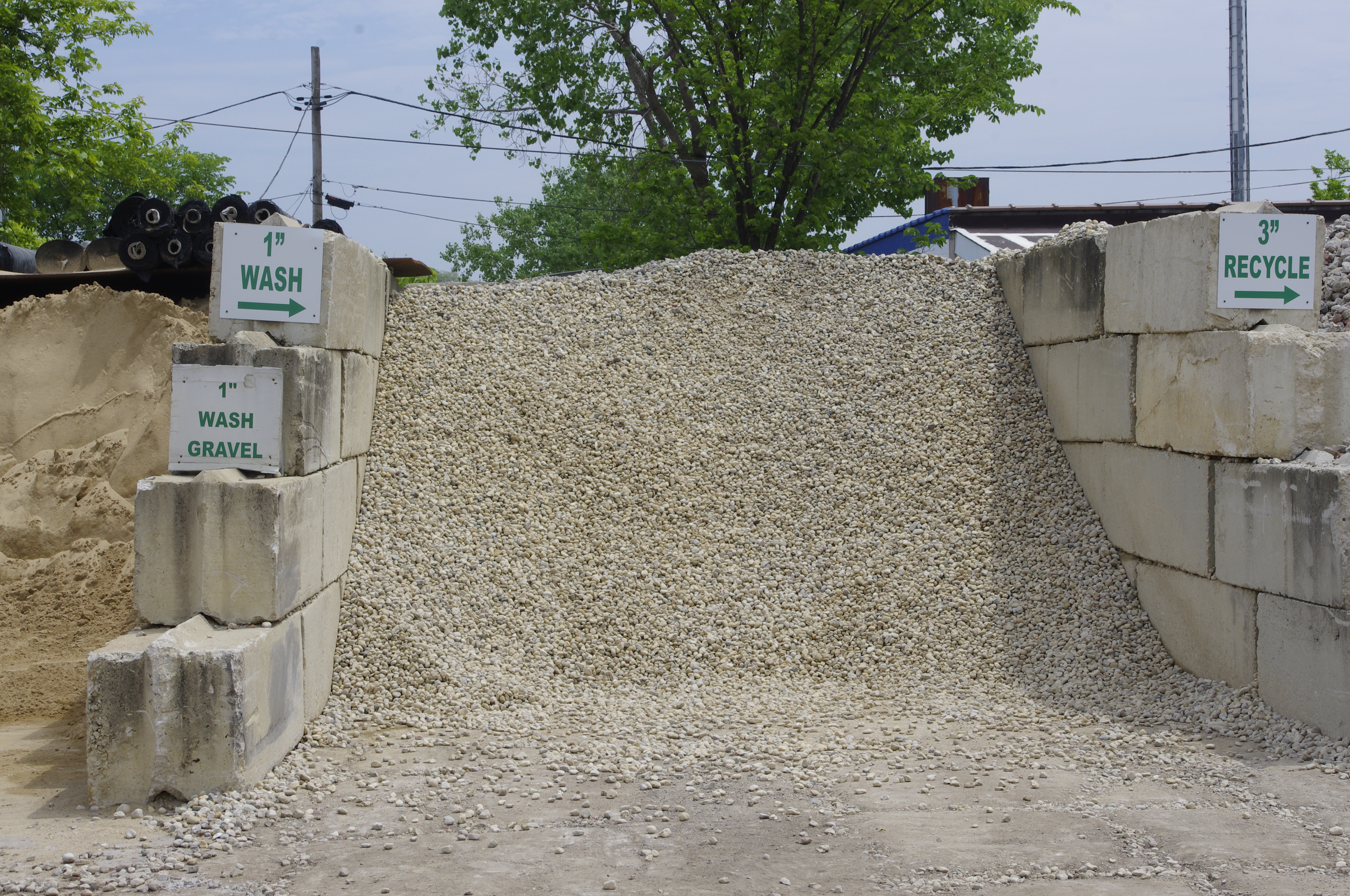 1 inch wash gravel