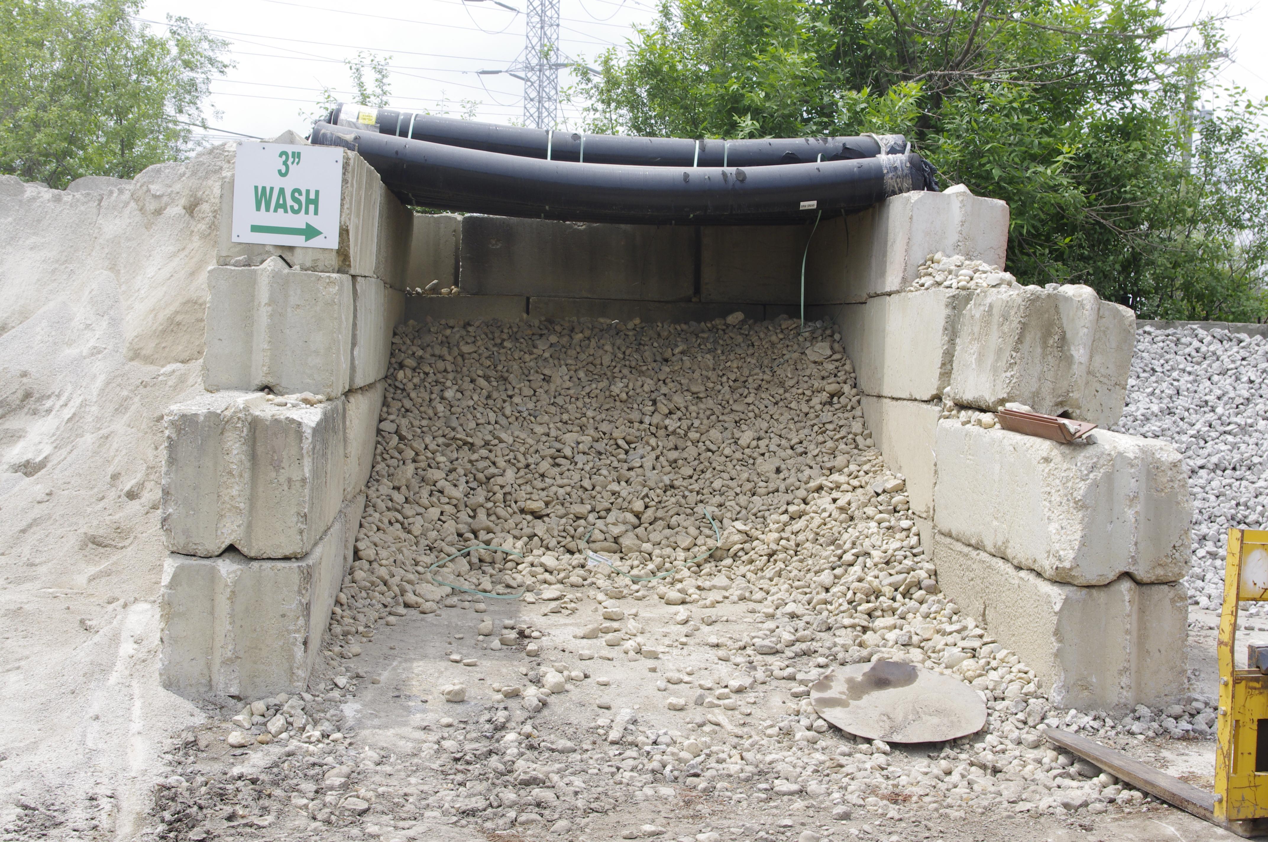 3inch wash gravel